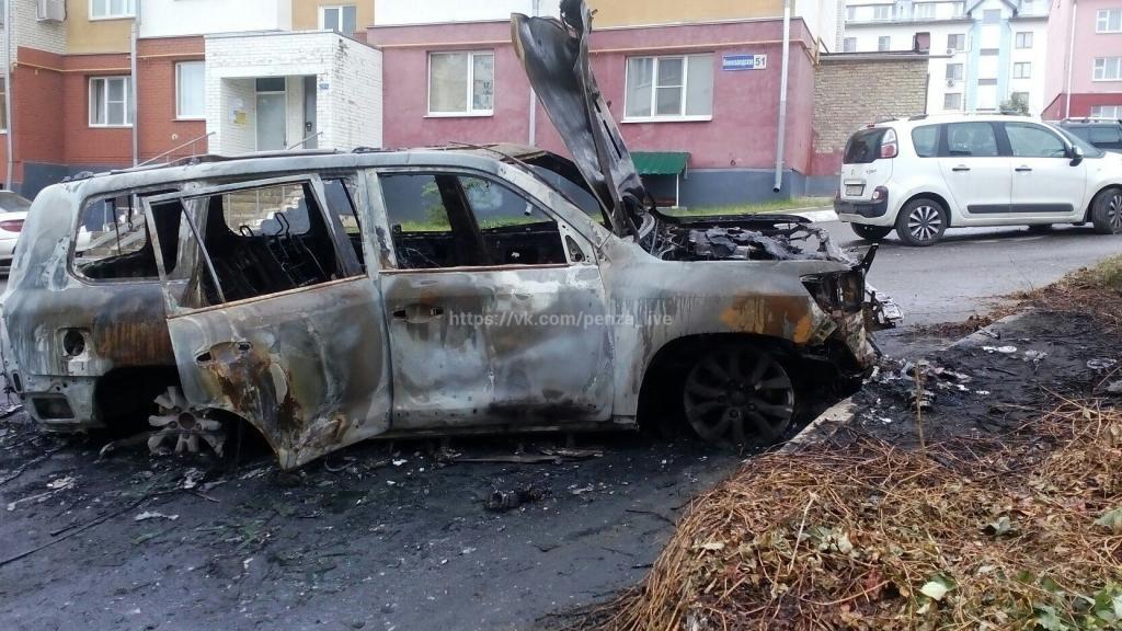 ВПензе наулице Коннозаводской сгорела иностранная машина