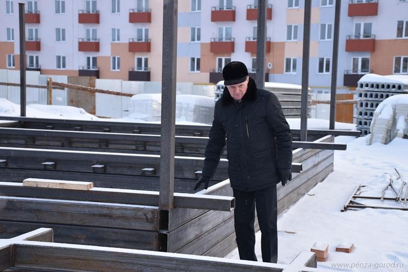 Руководитель администрации города Пензы Виктор Кувайцев проконтролировал строительство детского сада в«Заре»
