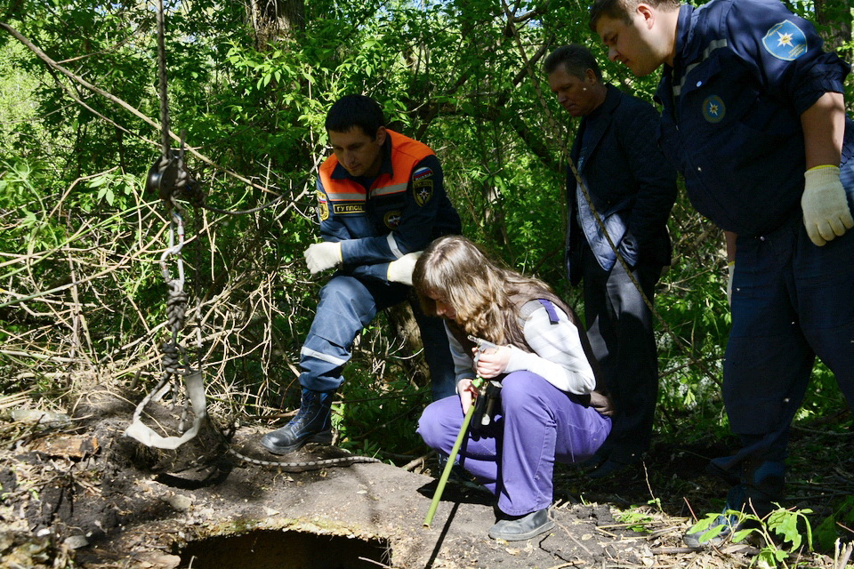 Пензенские cотрудники экстренных служб  освободили лося избетонной ямы